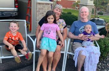 Steve with his Grandchildren
