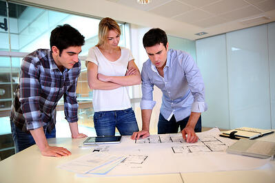 Team of Project Managers working on IT Infrastructure plans